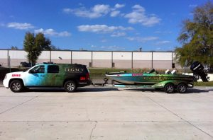 Matching Truck and boat wrap