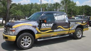 Custom truck wrap vehicle graphics